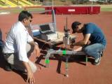 Teste realizado na pista de atletismo do CTE (foto: Andreia Ribeiro Rodrigues).